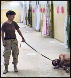 Soldier - American woman soldier in Iraqi jail performing duly perfectly.