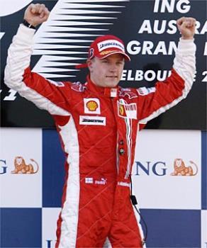 Raikkonen - The new driver of Ferrari.Lets see what he gonna do...