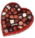 chocolates exclusively for faith - A heart box of chocolates for faith to liven up her moods.