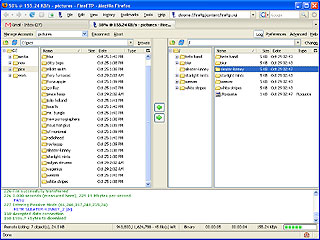 Fireftp screenshot - A screenshot of fireftp in action - its a pretty useful extension for firefox for uploading files.