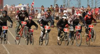 my son racing - bike race