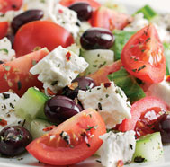 Greek Salad - One of the more tasty and healthy salad..