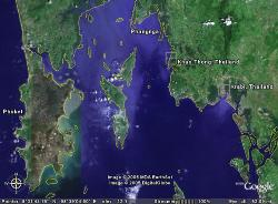 Tsunami - this is images from google earth of the tsunami