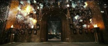 Firecraker still - The Weasley's firecracker scene in Harry Potter and the Order of the Phoenix.