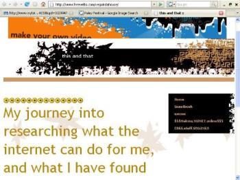 screenshot  - vega's website.