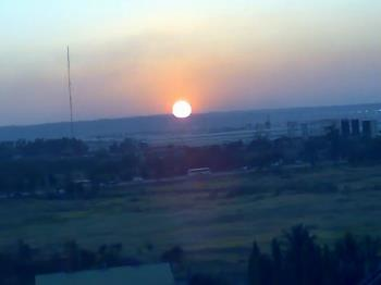 Sunset - A friend took this shot from his cellphone while on the ferris wheel.