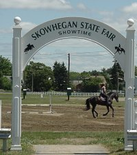 Entrance to Skowhegan State Fair, Maine - image of one of the entrances of the Skowhegan State Fair in Skowhegan, Maine, held every year in August.