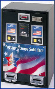 Stamp machine - The machine that almost always rips you off.