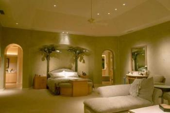 A cream coloured bedroom - I wish my bedroom was THIS big!