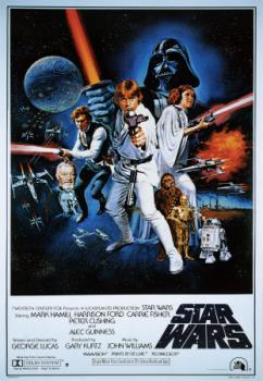 Star Wars - one of my favorite movie posters, the original Star Wars poster.