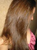 hair - long brown hair. can be associated with parts of the body. What your hair looks like.