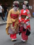 geisha - geisha's faces are so white; the whiter they get the more beautiful they are