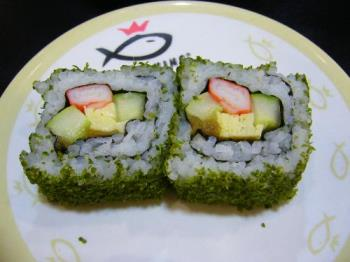 sushi - This was the sushi I took in Sushi King.