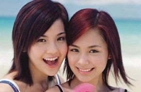 charlene choi and gillian chung - they are the twins.