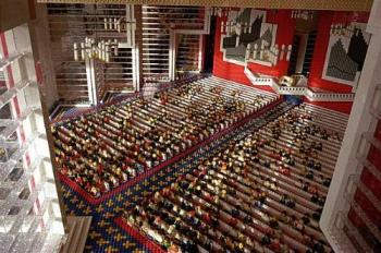 Lego Church - This is a church built entirely with Lego, including the congregation and the preacher. It is amazing in it's detail.