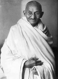 Mahatma Gandhi - As a British-educated lawyer, Gandhi first employed his ideas of peaceful civil disobedience in the Indian community's struggle for civil rights in South Africa. Upon his return to India, he organized poor farmers and labourers to protest against oppressive taxation and widespread discrimination.