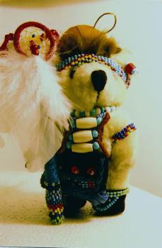 Swift Bear A Native American style teddy bear  - Swift bear..the bear I make and design