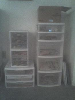 Storage Containers - Here's a picture of the containers! All of my scrapbook stuff is in here!