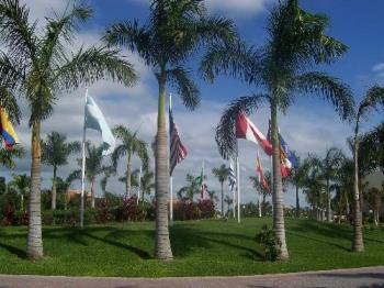 countries flags on our resort in mexico - Flags that were in front of our hotel in Mexico