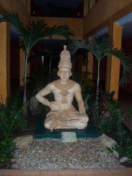 a good luck statue - This was a statue at our resort in Mexico that was said to bring people good luck in their lives