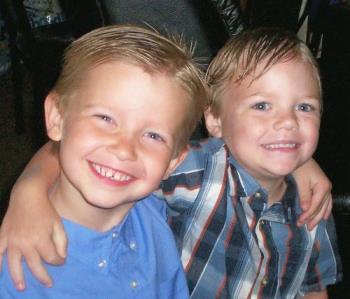 Parker and Skylar,..Best friends! - Parker his best friend is on th left..and Sky is on the right..