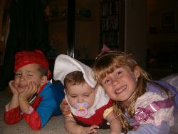 halloween - my 3 kids on halloween