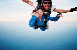 Me Skydiving - This is me blowing a kiss at the camera while falling from the sky...