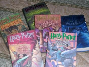 Harry Potter Books - This is a complete set of the Harry Potter Books by JK Rawling.....I am awaiting the final book to be released on July 21st.