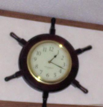 Time - This is the clock that hangs on the wall in my living room...I use it every day to help me manage the time that I have spend on certain activities. throughout the day.