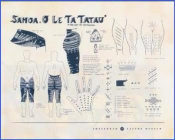 Samoan Tattoo Chart - Description of the Samoan Tattoo for Women and Men