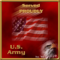 Served Proudly - Army - Served Proudly Army Icon
