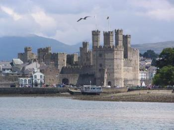 Caernarfon Castle, North Wales - The seat of the Prince of Wales