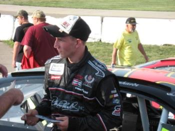Jeffery Earnhardt - This was taken by a friend as Jeffery and I chatted.  Well okay as I chatted. Hahahaha.