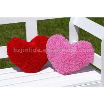 two love heart - love with different color and intensity... a pink and a red