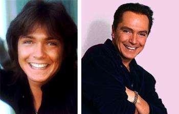 Then and Now - Image of David Cassidy from back when he did the Partridge Family to today