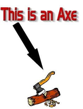Ax and wood - The word is ask people not axe!!