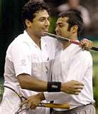 leander--bhupathi:the great tennis DUO - all the best to you two.