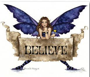 Picture of Believe Fairy - A print of Amy Brown's
