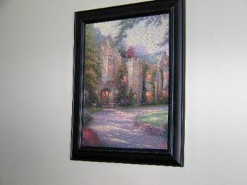 Puzzle picture Thomas Kincade - Puzzle picture glued and framed a Thomas Kincade picture