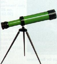 A Green Telescope - A picture of a green telescope.