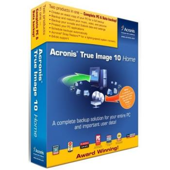 "Acronis True Image 10 Home - ""A complete backup solution for your entire PC and important user data!"" -Acronis"