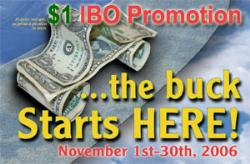 $1.00 THIS MONTH TO START YOUR OWN BUSINESS!  2 YE - November promotion