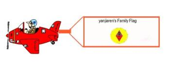 yanjiaren's family flag via jet!.................. - yanjiaren's family flag via jet!