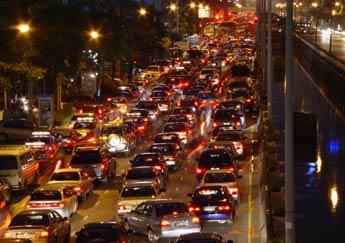 Bangkok traffic - During peak hours