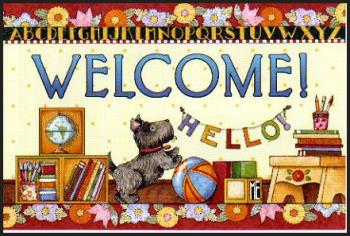 welcome - picture of a welcome card
