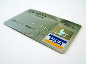 A credit card - A visa-credit card