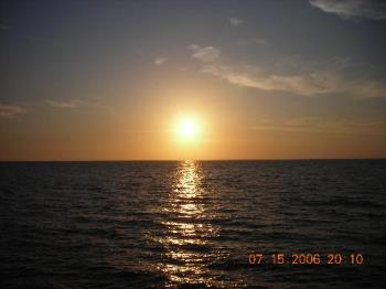 Clearwater Beach, Florida sunset - This is a picture I took of a sunset in Clearwater Beach, Florida.