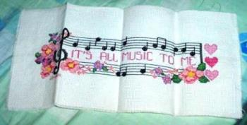 It's All Music To Me - My cross stitch about my passion for music.