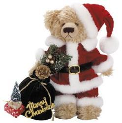 Christmas Bear - Picture of a Bear dressed like santa