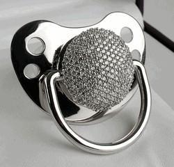 diamond pacifier  - diamond pacifier